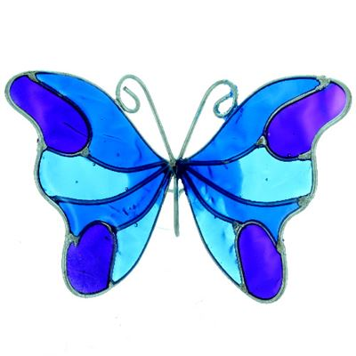 Butterfly Suncatcher with Window Sucker Blue, Purple