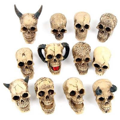 Set of Twelve Assorted Skulls