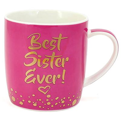 Best Sister Ever Pink Mug in Gift Box