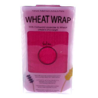 Cerise Cord Wheat Wrap in Acetate Gift Box